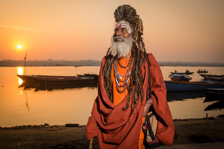 Sadhu at Sunrise