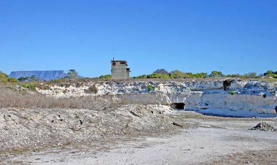 The lime quarry where Mandela did hard labour